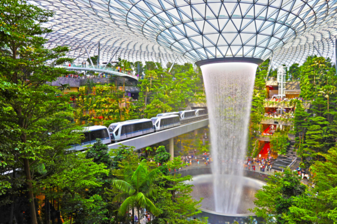Singapore Airport has four passenger terminals plus Jewel, a multi-purpose facility based in entertainment.
